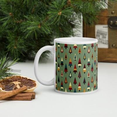 Inclusive Christmas Trees in Fresh Artichoke Christmas Mug