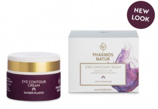 EYE CONTOUR CREAM – LOVE YOUR AGE – Avec Jus d'Aloe Vera Bio, des vitamines et acides hyaluroniques – 15ml