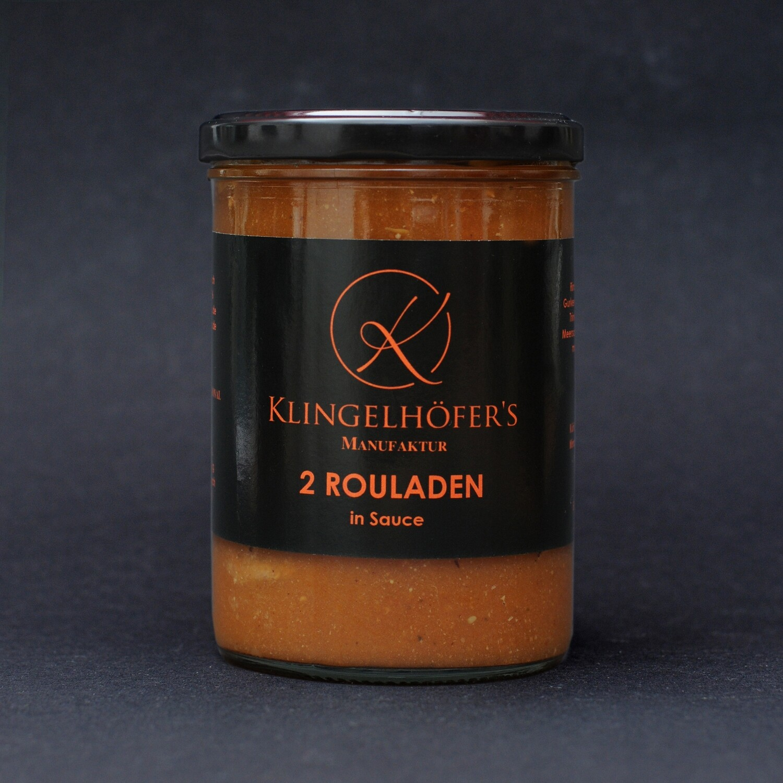 2 Rouladen in Sauce