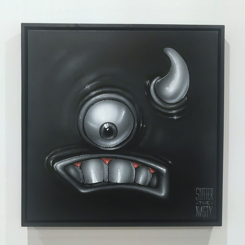 """""""OneEye"""" – unique and framed canvas"""