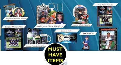 Ala Carte Specialty Photo Items