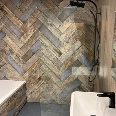 Wood Effect Porcelain Tiles 15 x 60 cm