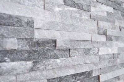 Cloud Grey Ice White Split Face Tiles 10 x 36 cm