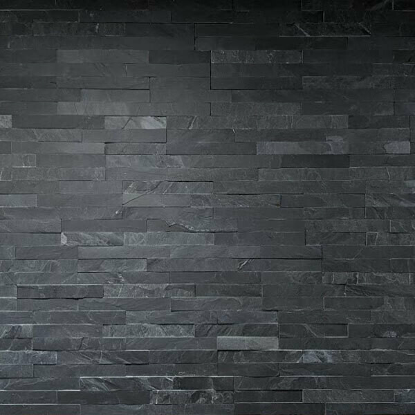 Black Split Face Tiles 10 x 36 cm