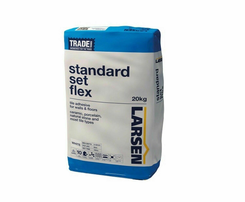 White Flexible Slow Set Adhesive 20 kg