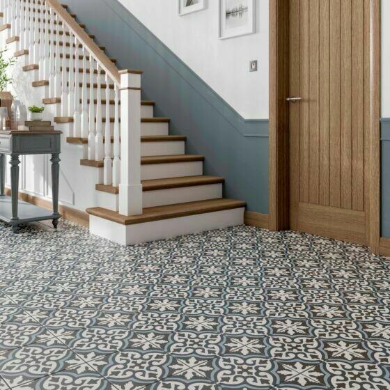 Miro Patterned Glazed Ceramic Wall & Floor Tile 25 x 25 cm