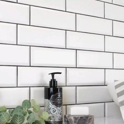 Metro White Tiles Bevelled 10 x 30 cm