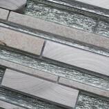 Silver Glass Interlock Mosaics 30 x 30 cm
