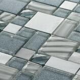 Diamond Glass Metal  Mosaic 30 x 30 cm