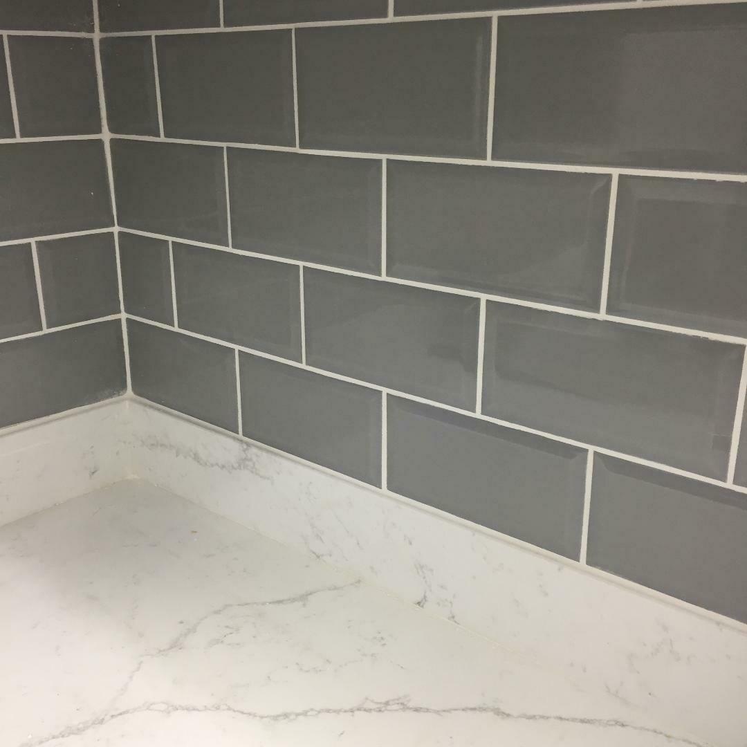 Metro Grey Gloss Wall Tiles 20 x 10 cm