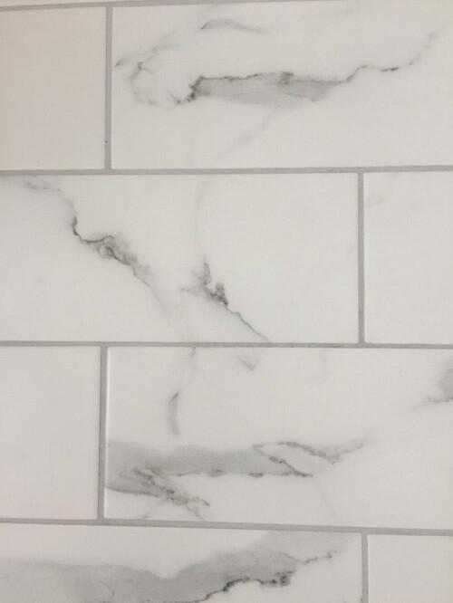 Matt White Marble Ceramic Wall Tiles 10 x 30 cm