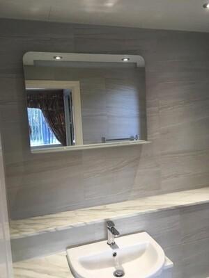 Light Grey Stone Porcelain Tiles 60 x 30 cm