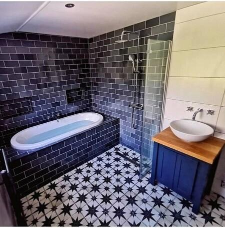 Vintage Blue Ceramic Tiles 45 x 45 cm