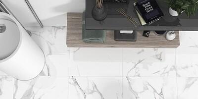 White Gloss Porcelain Tiles 60 x 60 cm