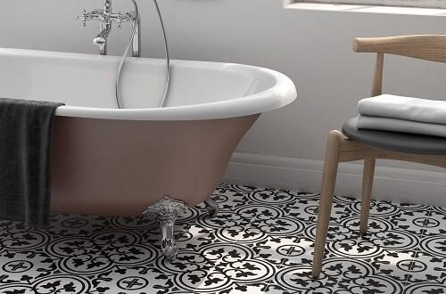Black & White Porcelain Tiles 20 x 20 cm