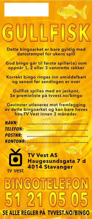 TV Bingo Gullfisk