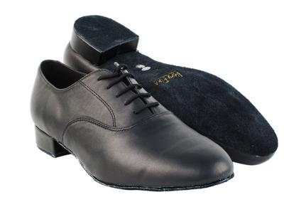 Men's Standard Black Leather Dance Shoe
