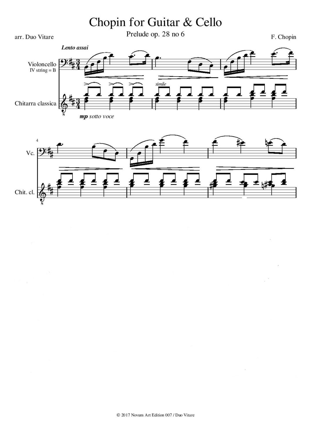 Frederic Chopin - Prelude no 6 - B-minor- sheet music (PDF)