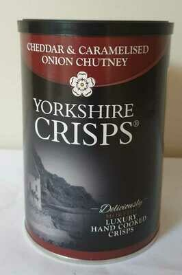 Yorkshire Crisps Cheddar & Caramelised Onion Chutney