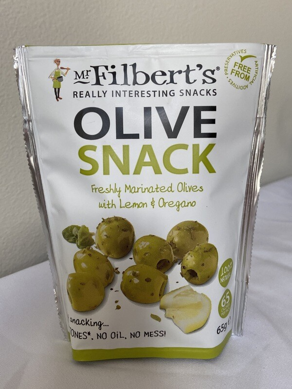 Olive Snack with Lemon & Oregano