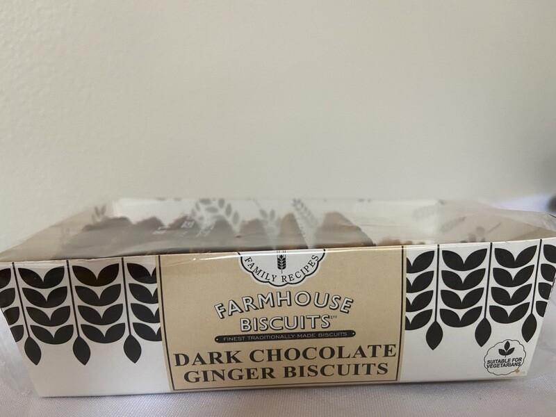Farmhouse Dark Chocolate Ginger Biscuits