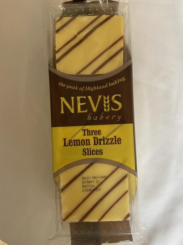 Nevis Lemon Drizzle Slices