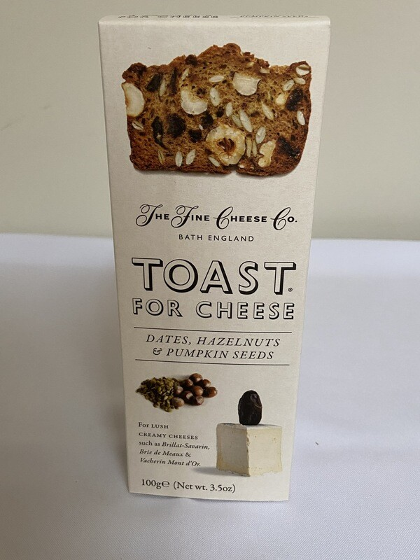 Toast for Cheese Dates, Hazelnuts & Pumpkin Seeds