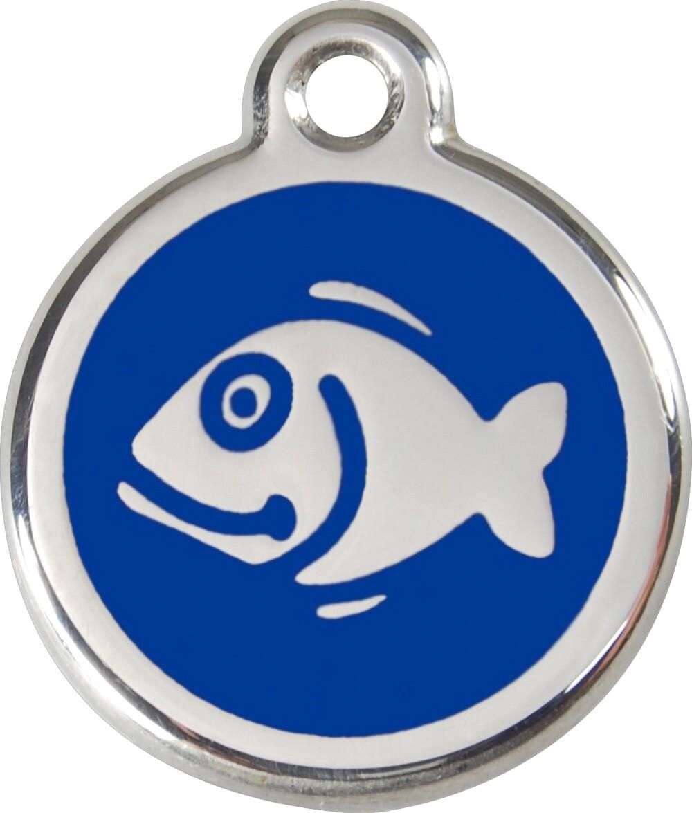 Tiermarke: Fisch, verschiedene Hintergrundfarben