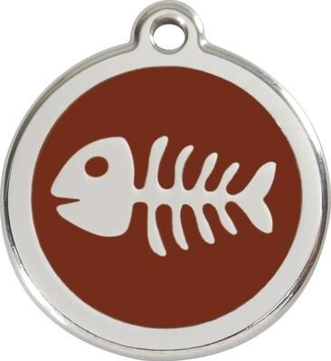 Tiermarke: Fischgräte, verschiedene Hintergrundfarben