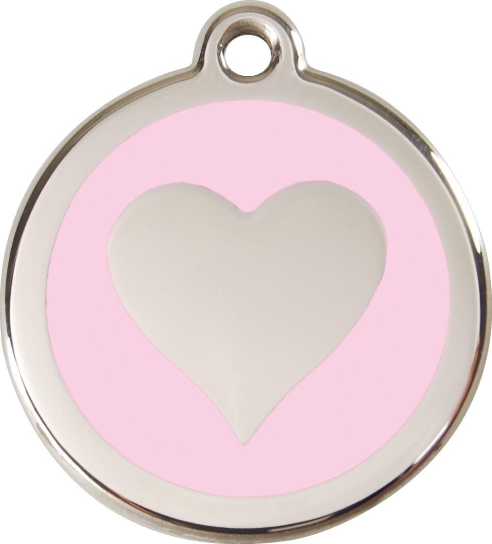 Tiermarke: Herz silber, verschiedene Hintergrundfarben