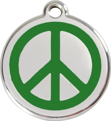 Tiermarke: Peace-Zeichen, verschiedene Hintergrundfarben