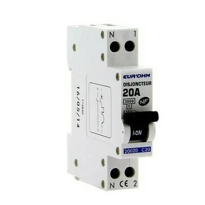 EUROHM Disjoncteur 20A Ph+N courbe C 3kA 230V