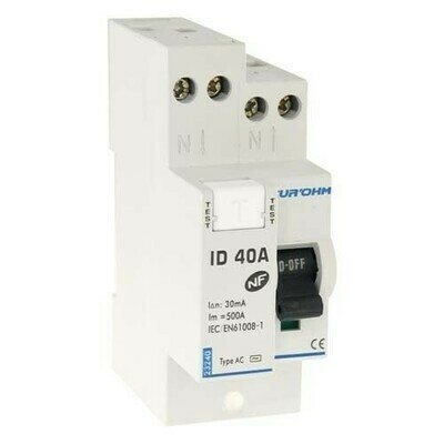 EUROHM Interrupteur différentiel 40A 30mA type AC 230V