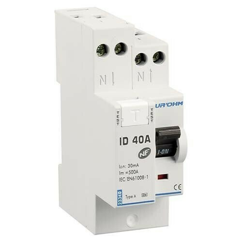 EUROHM Interrupteur différentiel 40A 30mA type A 230V