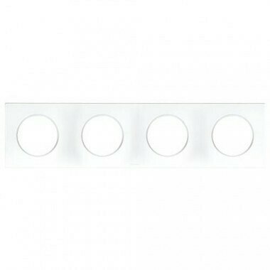 EUROHM Square Plaque quadruple blanc