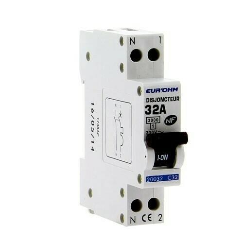 EUROHM Disjoncteur 32A Ph+N courbe C 3kA 230V