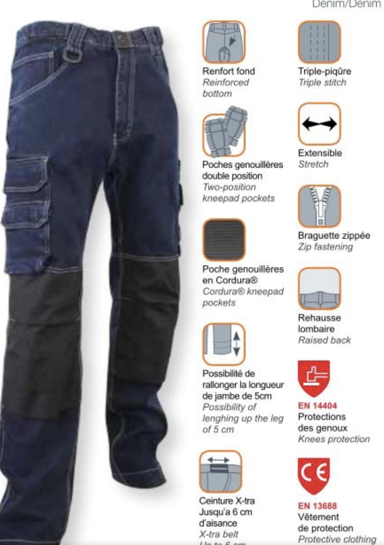 DOCK jeans extensible poche T44