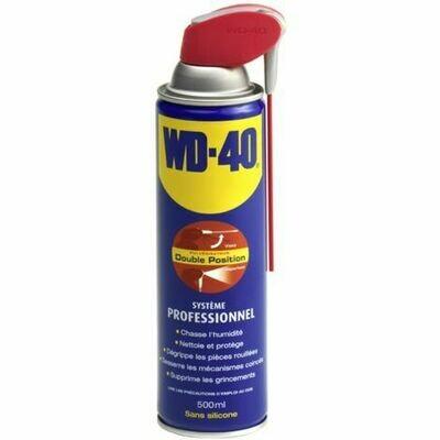 WD40 - Lubrifiant 500ml Système professionnel double positions - 33034