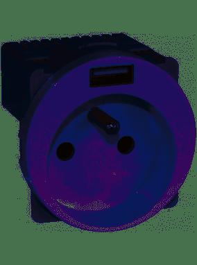 PRISE COMBINÉES 2P+T ET USB-INSTALLATION DANS BOITE PROFONDEUR 40MM