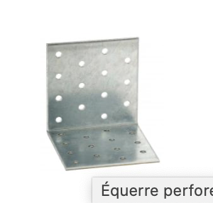 A471800 EQUERRE PERFOREE 80 X 80 X 60 X 2,5