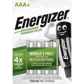 PILE RECHARGEABLE AAA 700MAH 1.2V PAR 4 ENERGIZER