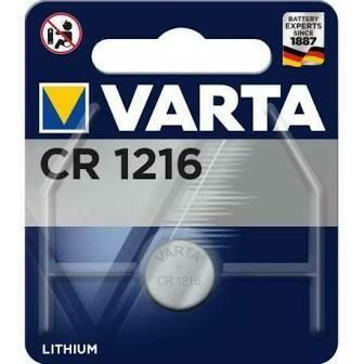 piles BOUTON VARTA CR1216
