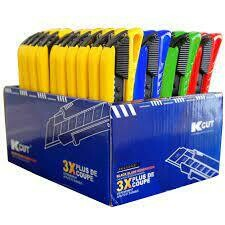 CUTTERS 4 COULEURS BLACK BLADE SK2 18MM