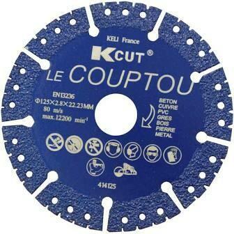 DISQUE DIAMANT «LE COUPTOU» 125MM