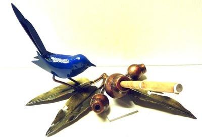 Marri Desk Set (3 leaf) with Blue Wren