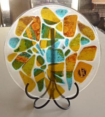 Glass platter stand