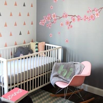 "kit stickers branche de cerisier fleurie ""cherry blossom"""