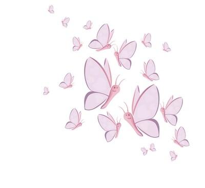 kit stickers envolée de papillons Féeriz'