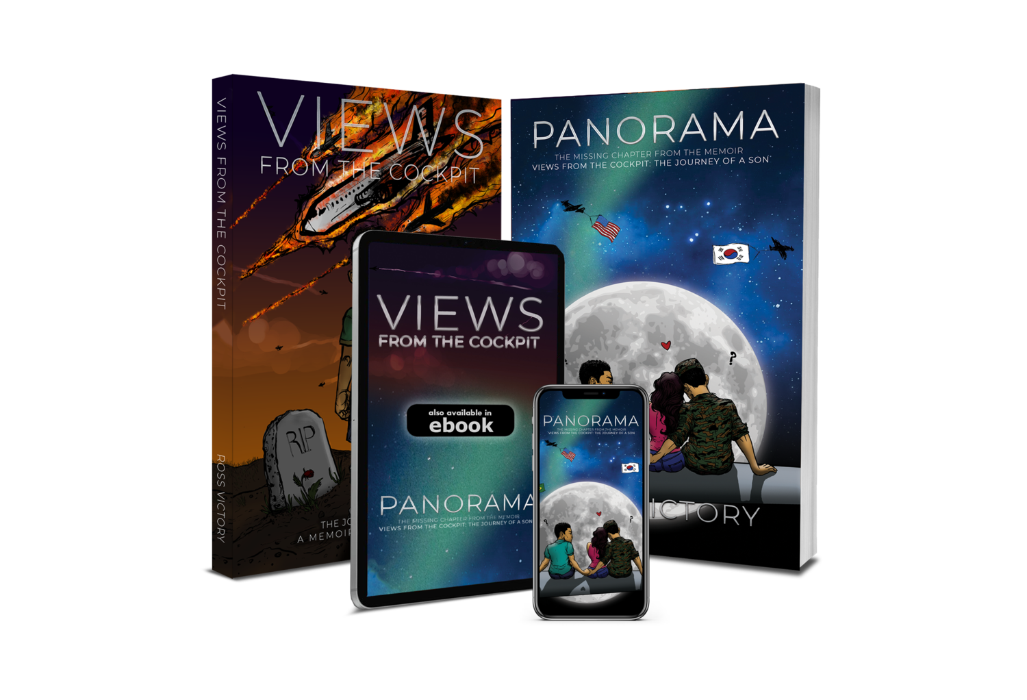 Views from the Cockpit + Panorama 2-book set (signed with note)