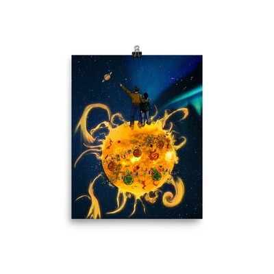 Father & Sun Wall Poster